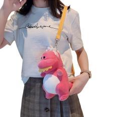Túi đeo chéo thú bông thiết kế hình khủng long dễ thương