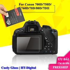 Miếng dán màn hình cường lực cho máy ảnh Canon 700D/750D/760D/70D/80D/7DII