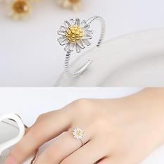 Nhẫn hoa cúc bạc s925 phong cách nữ tính mẫu mới nhất