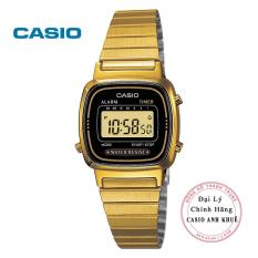 Đồng hồ điện tử nữ Casio LA670WGA-1DF dây kim loại