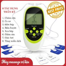 May Mat Xa Xung Dien – Máy Massage trị liệu xung điện 8 miếng dán Cao Cấp, May mat xa toan than, Máy massage trị liệu 8 miếng dán, xoa bóp, châm cứu, bấm huyệt