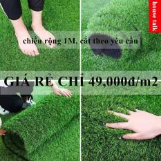 Thảm cỏ nhân tạo sân vườn hàng VNXK siêu rẻ bán theo m/m2 (Free Ship toàn quốc)