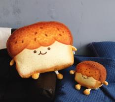 Gấu Bông Bánh Mì Nướng Mèo Biểu Cảm Meo Cat