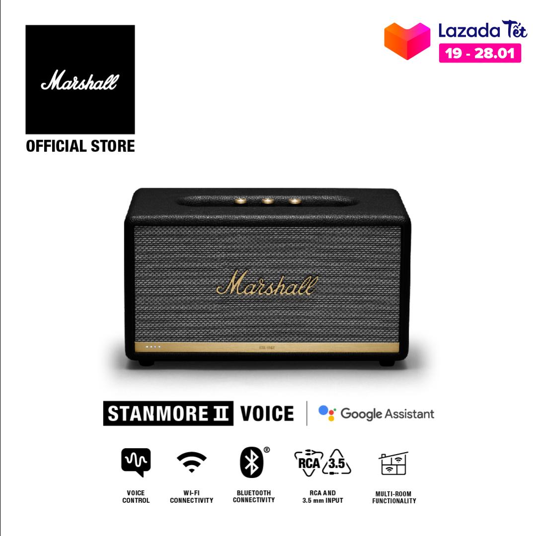 [Hàng chính hãng] Loa Bluetooth Marshall Stanmore II Voice with Google Assistant Homeline – 1 năm bảo hành (Đen)