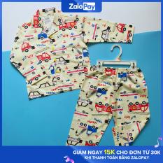 Pijama cho bé vải cotton Ô tô vàng 10-40kg