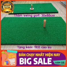 Thảm tập golf swing 30x60cm chính hãng PGM loại cao cấp, Tặng kèm tee cao su