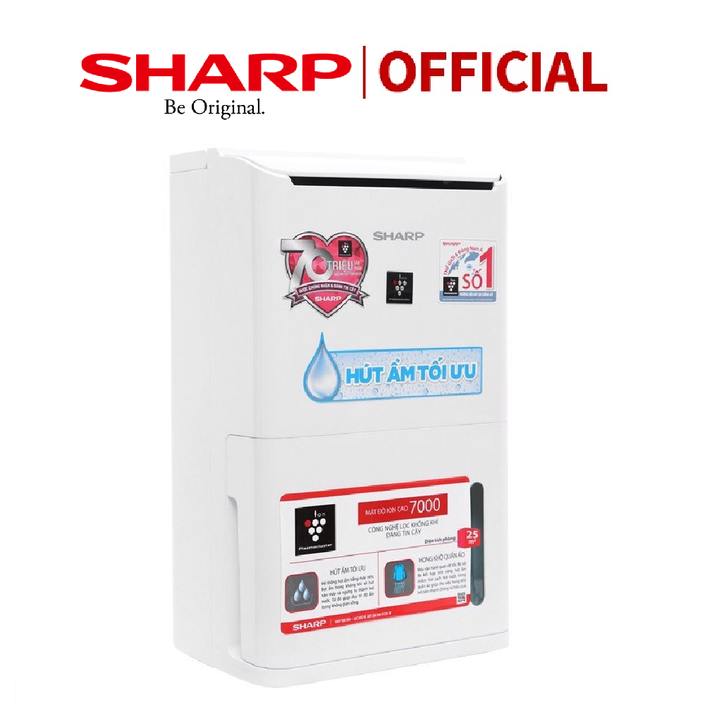 [Trả góp 0%]Máy hút ẩm và tạo ion Sharp DW-D12A-W (25m2) – Bảo hành chính hãng 12 Tháng