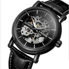 [HCM]Đồng hồ cơ nam T-Winner H273M lộ máy (M Mặt đen vỏ đen)