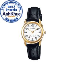 Đồng hồ nữ dây da Casio Standard chính hãng Anh Khuê LTP-V001GL-7BUDF (25mm)