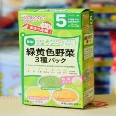 Bột ăn dặm Wakodo nhập Nhật cho bé – hỗn hợp 3 vị rau củ