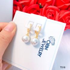 Bông tai thời trang nữ đính châu thiết kế cao cấp Orin T518