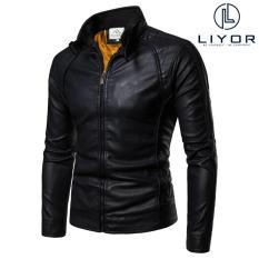 Áo khoác da lót lông thiết kế đơn giản phù hợp với dáng người dưới 85kg – LiyorShop – PAKD3027