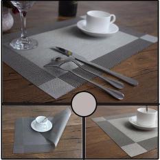 COMBO 6 tấm lót bàn ăn màu ghi