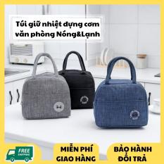 Túi giữ nhiệt đựng cơm – Túi đựng cơm văn phòng Cao Cấp Korea – Bảo quản thực phẩm giữ nhiệt Nóng và Lạnh Siêu tốt ( 3 Màu )