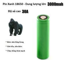 Pin Xanh C6 Lithium-ion Klaid 18650 Cao Cấp dung lượng cực lớn 3000mAh với dòng xả cao 30A model mới 2020 chuyên dùng cho các loại mech, box VAPEZ