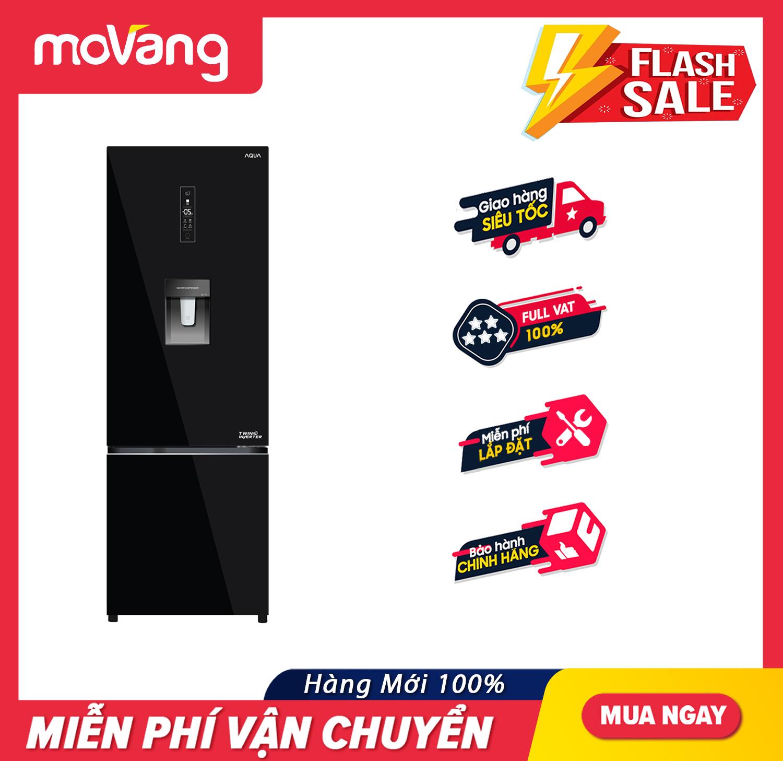 Shop bán [TRẢ GÓP 0%] Tủ lạnh Aqua Inverter 324 lít AQR-B379MA(WGB) - Hệ  thống làm lạnh Twin Inverter Khử mùi diệt khuẩn DEO Fresh