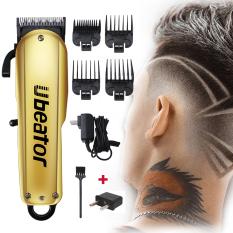 Ubeator Hair Tông đơ có thể sạc lại Hair Clip cắt tóc nam không dây có thể điều chỉnh Lưỡi cắt thép Máy cắt tóc