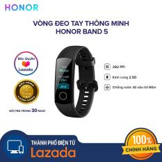 [ĐỘC QUYỀN LAZADA] Vòng đeo tay thông minh Honor Band 5 – Chức năng đo Oxy trong máu SpO2 – Màn hình AMOLED – 10 chế độ thể thao – Chống nước 50M – Hàng chính hãng
