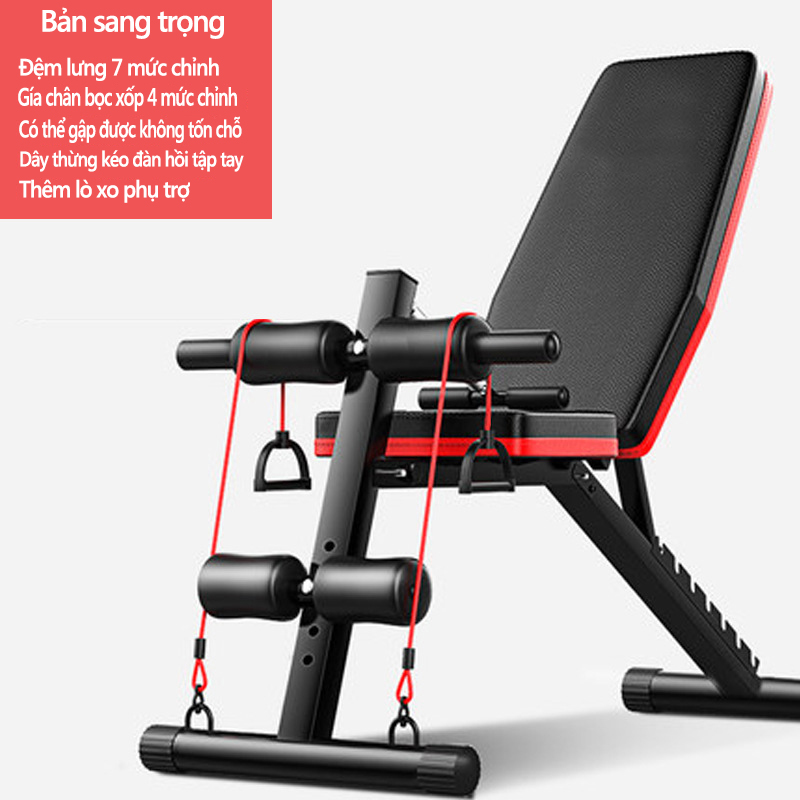 Ghế tập tạ đa năng Ghế gập bụng chống đẩy tập gym đa năng có thể gấp lại
