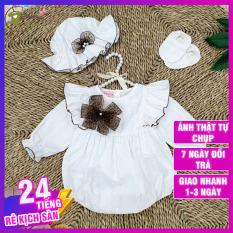 [RẺ ĐẸP] Váy Body Cho Bé Gái Màu Trắng Xinh Xắn Tặng Kèm Vớ, Nón – Hàng thiết kế siêu đẹp, siêu sang cho bé – Thích hợp đi chơi, đi tiệc, làm quà tặng thôi nôi, sinh nhật cho bé – BATORY Store