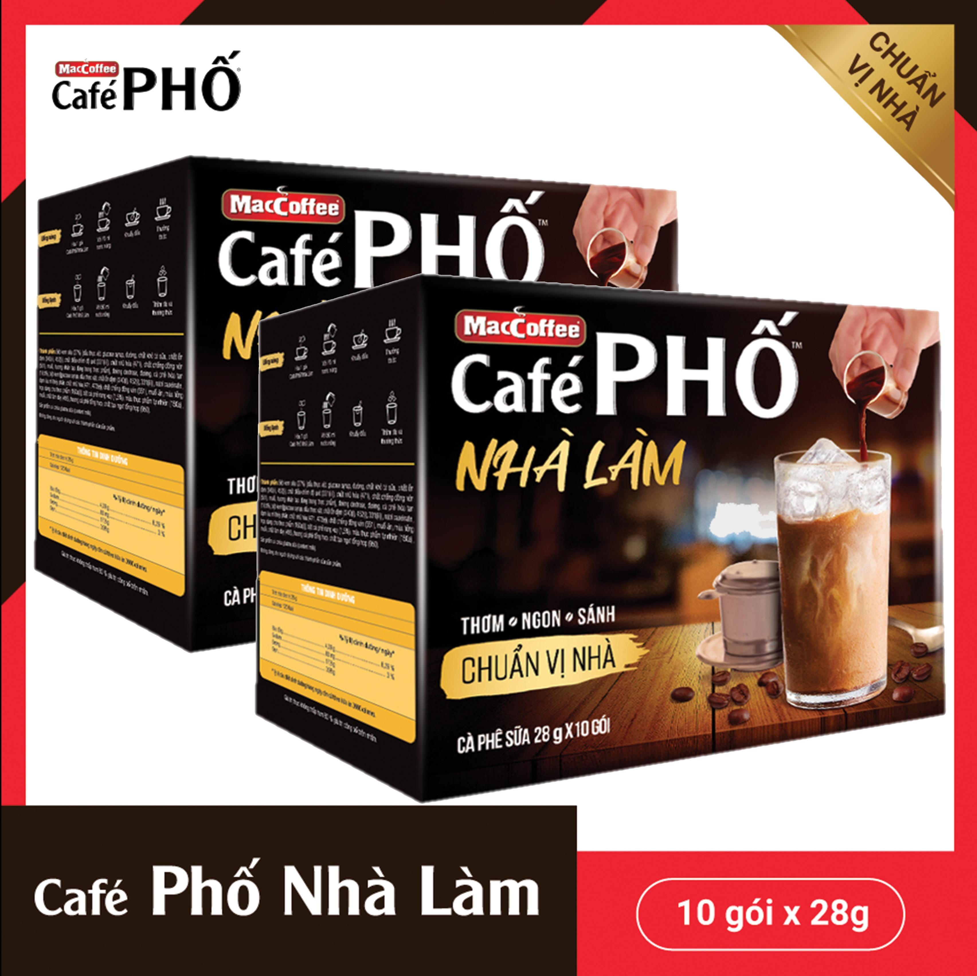 Combo x 2 hộp MacCoffee CaféPHỐ nhà làm 280g thơm ngon, đậm vị, hàng chính hãng đảm bảo chất lượng,...