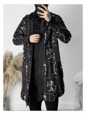 Áo Khoác Nam Dáng Dài In Họa Tiết Thời Trang JayStore AO KHOAC NAM 1000017V1