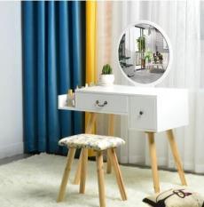 [HÀNG LOẠI 1] Full bộ bàn ghế trang điểm Bắc Âu gương tròn 85x40x120 ( bàn + ghế)