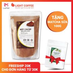 [TẶNG MATCHA SỮA] Bột cacao cao cấp Light Coffee , 100% nguyên chất, không pha trộn tạp chất , dễ tan, đậm đà – Gói 500g