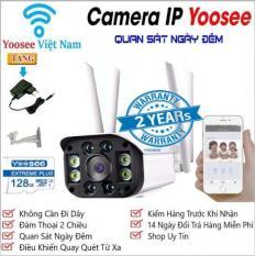 [CÓ MẦU BAN ĐÊM TẶNG THẺ NHỚ 128GB] camera wifi 3.0 ngoài trời – trong nhà camera yoosee 4 Râu 3.0 Mpx full hd 1080p – hỗ trợ 4 đèn hồng ngoại và 4 đèn LED + kèm thẻ nhớ 128GB – NEW