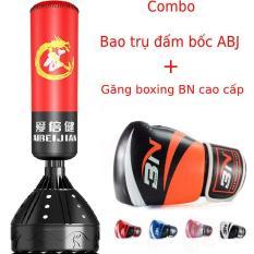 Combo bao trụ đấm bốc boxing ABJ tự đứng + Găng tay đấm bốc BN cao cấp full màu full size – Bảo hành 6 tháng