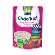 Cháo tươi Baby Sài Gòn Food Bò & Đậu hà lan 240g