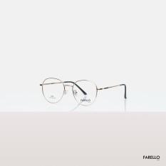 Gọng kính kim loại mắt tròn nam nữa FARELLO, nhẹ nhàng thanh mảnh, phù hợp với nhiều khuôn mặt, màu sắc đa dạng, một size ACACIA – 8868
