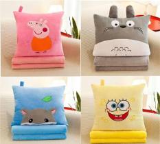 Set chăn gối văn phòng 3 trong 1, bộ chăn gối ngủ văn phòng 3 trong 1 hình thú siêu dễ thương (mèo Totoro, lợn Peppa,voi) – MBDIEP01