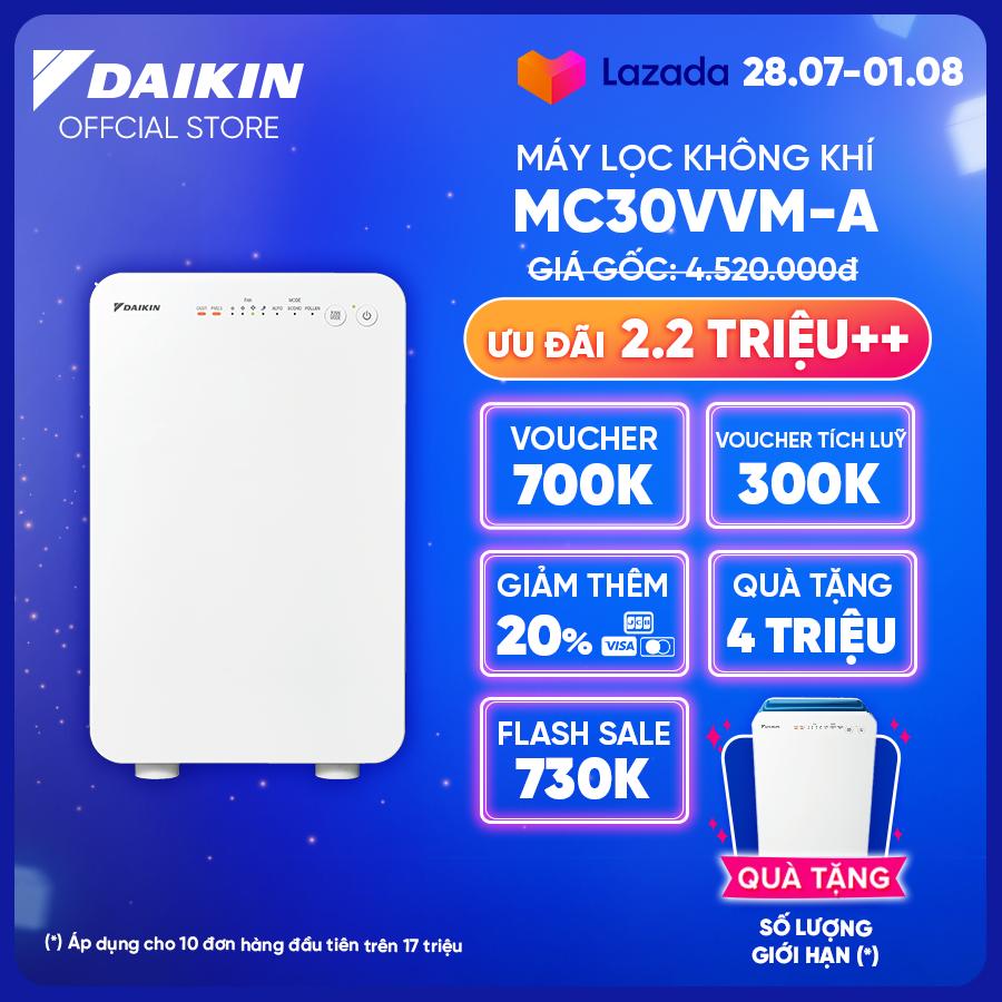 [Trả góp 0%]Máy Lọc không khí Daikin MC30VVM-A – Phù hợp phòng 21m2 – Hệ thống phin lọc 3 cấp – Vận hành êm ái – Thiết kế nhỏ gọn – Hàng chính hãng