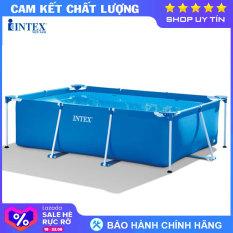 Bể bơi khung kim loại chữ nhật INTEX 28272 – INTEX Việt Nam – Hồ bơi cho bé mini, Bể bơi phao trẻ em