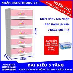 Tủ nhựa Duy Tân Đại Kiểu 5 tầng Tặng Hộp đựng thực phẩm cao cấp MATSU Duy Tân 500ml