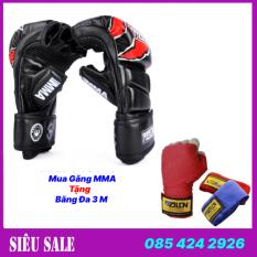 [ BÁN RẺ NHÂT LA.ZA.DA ] Găng bao tay đấm bốc boxing MMA Walon Fighter chuẩn thi đấu – Tặng kèm băng đa boxing – Bảo hành 6 tháng