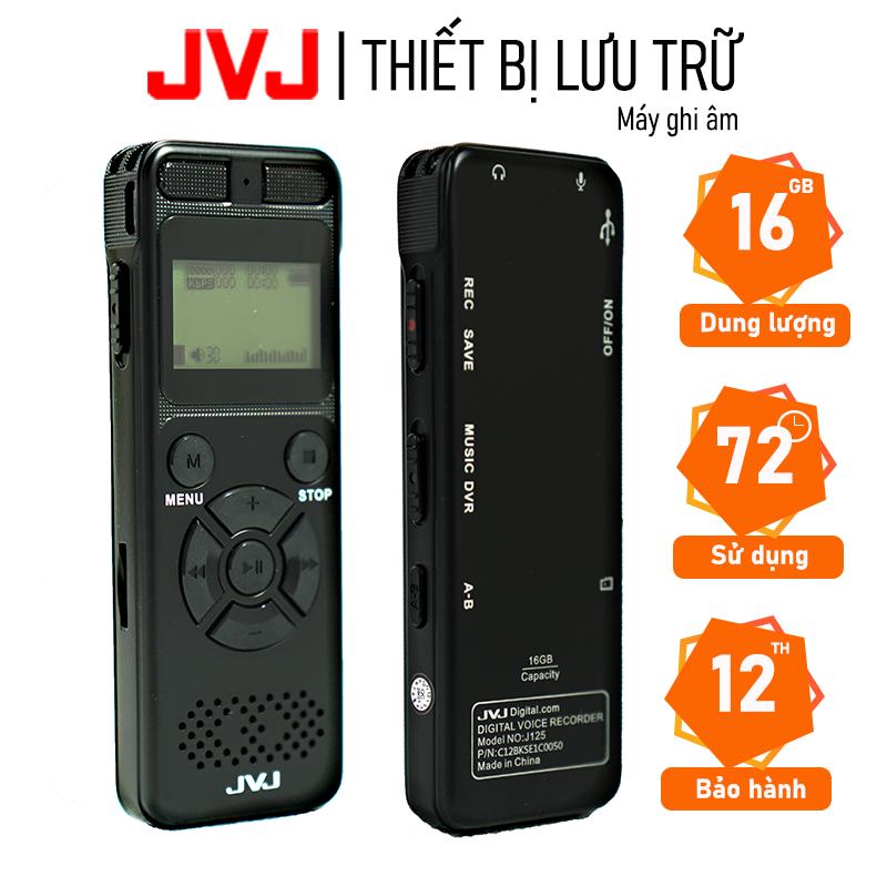 Máy ghi âm chuyên nghiệp JVJ J125 16Gb chất lượng cao chính hãng - Hỗ trợ ghi âm liên tục...