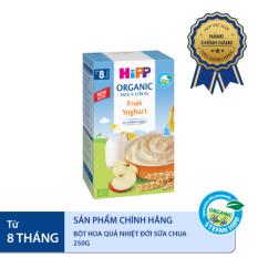 Bột ăn dặm HiPP 250g dinh dưỡng sữa hoa quả nhiệt đới, sữa chua