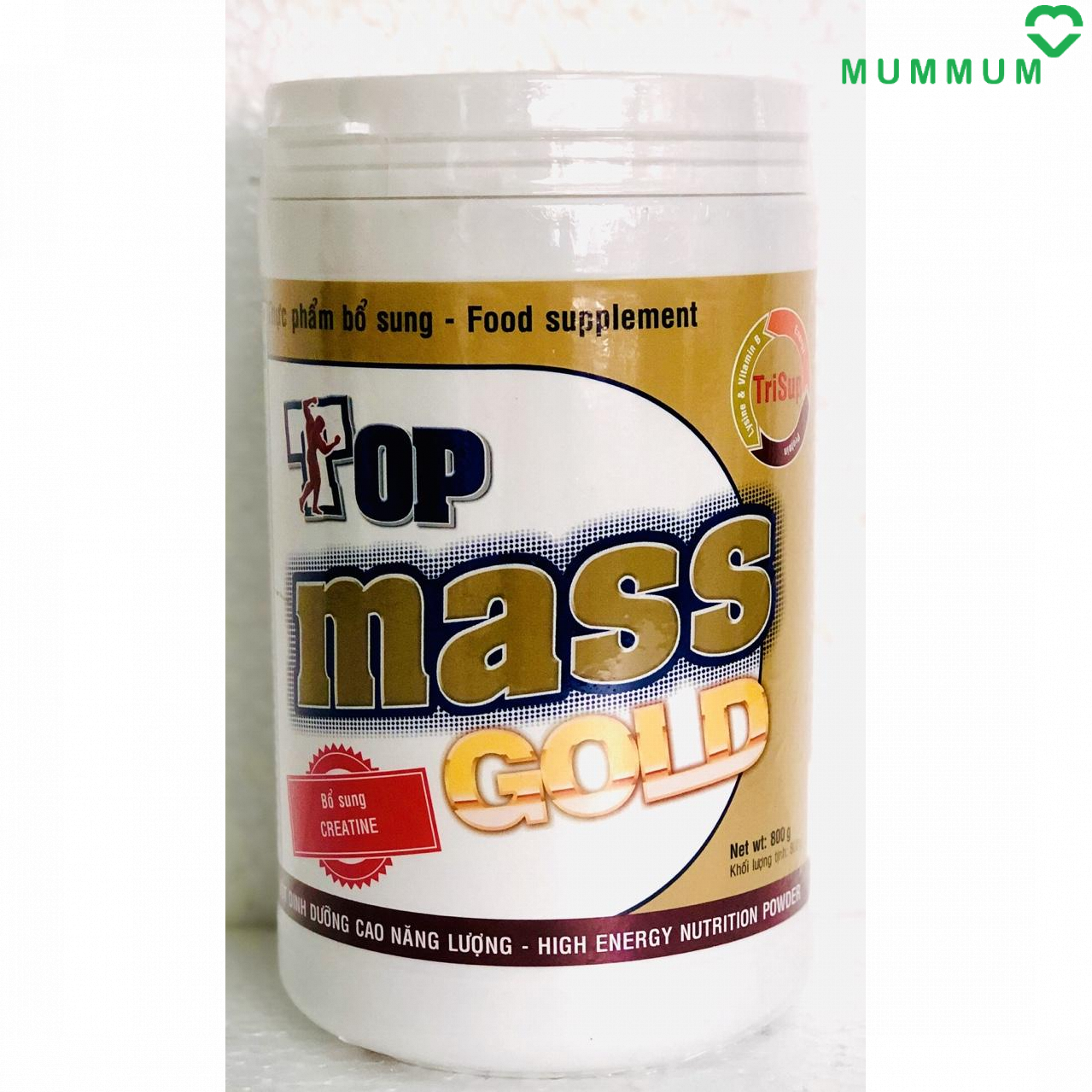 Sữa bột Top Mass Gold 800g tăng cân – Chocolate