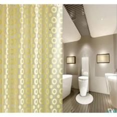 Rèm phòng tắm loại 12 móc 1.8m*1.8m VIỀN TRÒN VÀNG