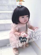 [TẶNG KÈM CÀI TÓC ]- Bộ Đầu Tóc Giả Ngang Vai cho bé gái ( ảnh thật)
