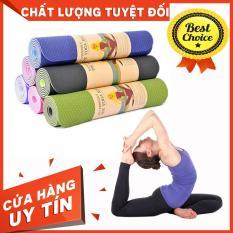 Thảm Yoga TPE Chất Liệu Cao Cấp – Thảm Yoga Đàn Hồi Cao – Độ Dày 6mm