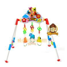 Đồ chơi kệ chữ a k2 bb9 cho bé sơ sinh vận động, tập thể dục có nhạc, đèn bằng nhựa Chợ Lớn – đồ chơi Monkey