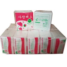 Combo 10 bịch khăn giấy vuông cao cấp, khăn giấy ăn Napkin Hàn Quốc 100 tờ – 320x330mm