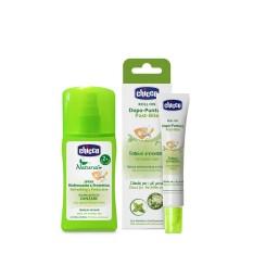 [Tặng quà] COMBO 1 xịt đa năng xua muỗi Chicco 100ml + 1 lăn bôi vết muỗi đốt, côn trùng cắn Chicco 10ml ( Tặng 50 tờ khăn khô đa năng )
