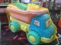 Đồ chơi mô hình xe xúc cát biển, xếp hình cho bé