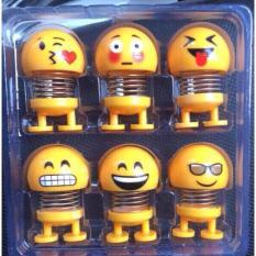 Set 6 lò xo mặt cười Emoji bé ( siêu ngộ, làm quà tặng)