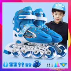 Giày Trượt Patin Cho Bé Trai – Bé Gái Tặng Kèm Mũ Bảo Hiểm Và Phụ Kiện Bảo vệ Chân Tay