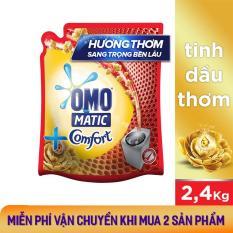Nước giặt Omo Matic Tinh dầu thơm Comfort túi 2.4kg